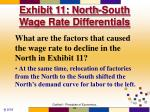 exhibit 11 north south wage rate differentials63