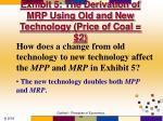 exhibit 5 the derivation of mrp using old and new technology price of coal 235