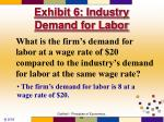 exhibit 6 industry demand for labor