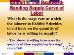 exhibit 9 the backward bending supply curve of labor