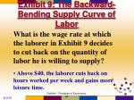 exhibit 9 the backward bending supply curve of labor54