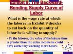 exhibit 9 the backward bending supply curve of labor55