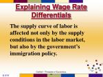 explaining wage rate differentials67
