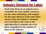 industry demand for labor