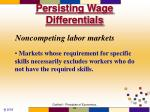 persisting wage differentials
