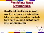 persisting wage differentials69