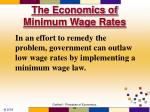 the economics of minimum wage rates71