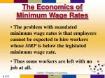 the economics of minimum wage rates72