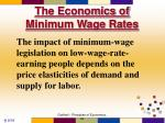 the economics of minimum wage rates73