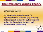 the efficiency wages theory