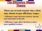 the efficiency wages theory81