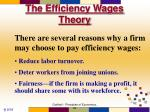 the efficiency wages theory82