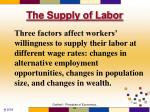 the supply of labor44