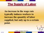 the supply of labor50