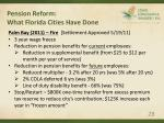 pension reform what florida cities have done28