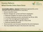 pension reform what florida cities have done29