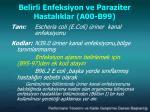 belirli enfeksiyon v e parazit er hastal klar a00 b991