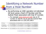 identifying a network number from a host number