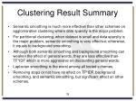 clustering result summary