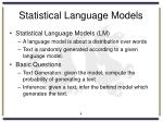 statistical language models