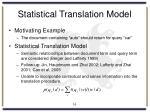 statistical translation model
