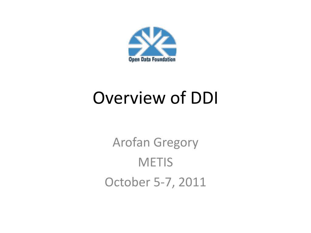 overview of ddi l.