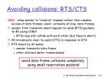 avoiding collisions rts cts