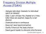 frequency division multiple access fdma