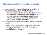 handling mobility in cellular networks