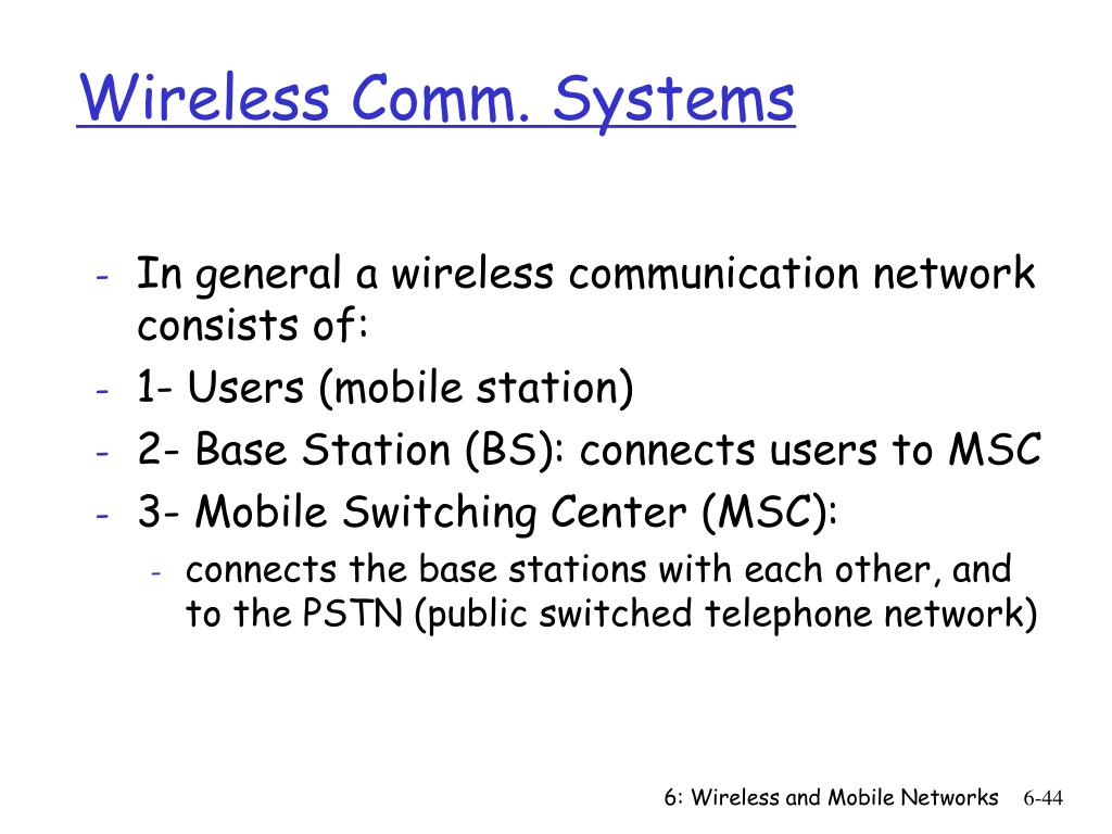 Wireless Comm. Systems