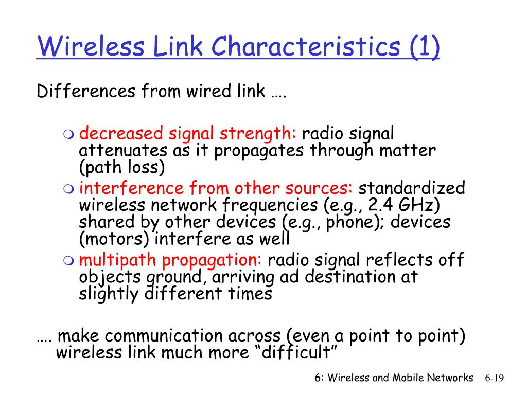 Wireless Link Characteristics (1)