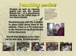 teaching on line