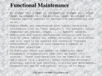 functional maintenance