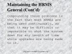 maintaining the hrms general cont d6