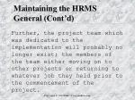 maintaining the hrms general cont d7