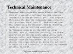 technical maintenance
