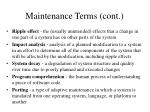 maintenance terms cont
