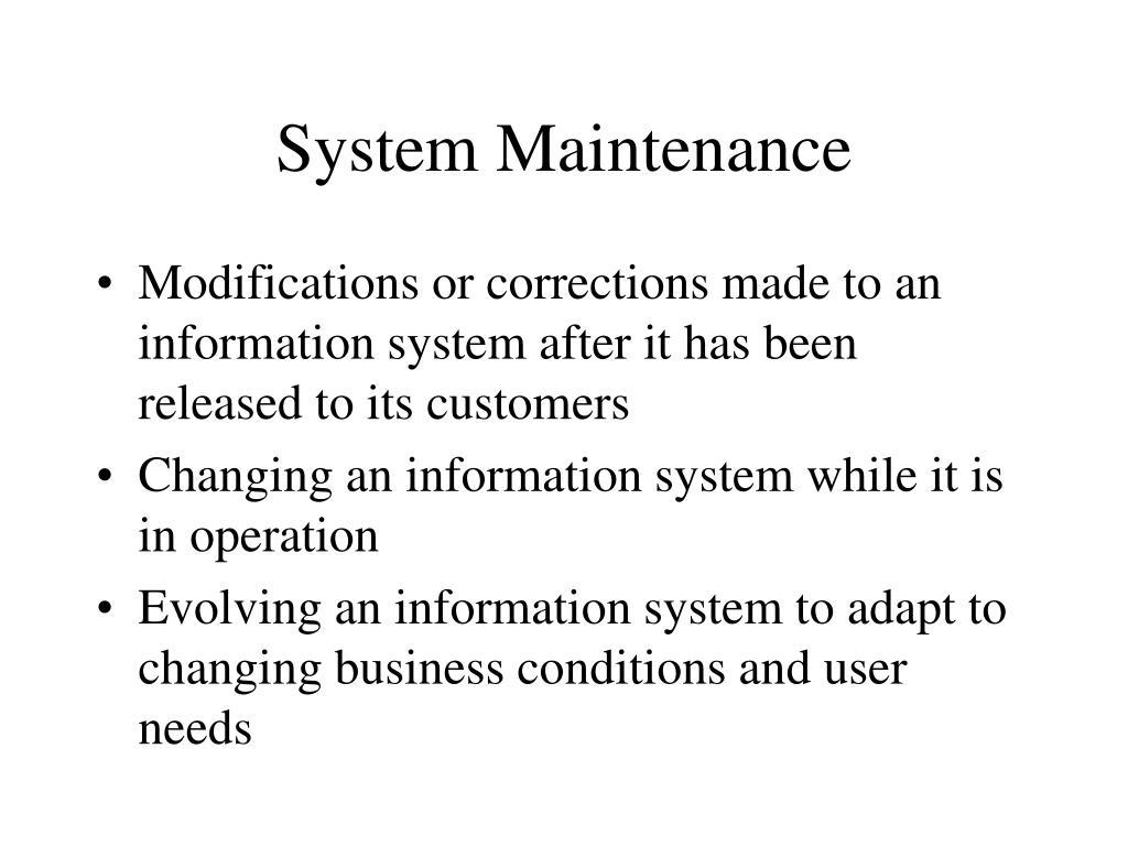 system maintenance l.