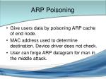 arp poisoning