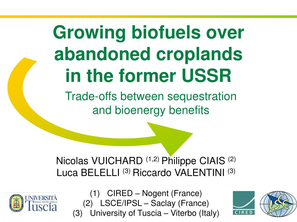 trade offs between sequestration and bioenergy benefits l.