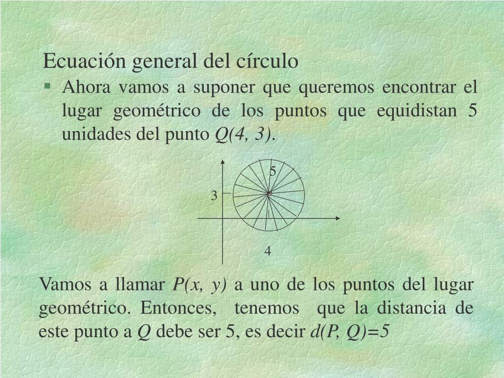 ecuaci n general del c rculo l.