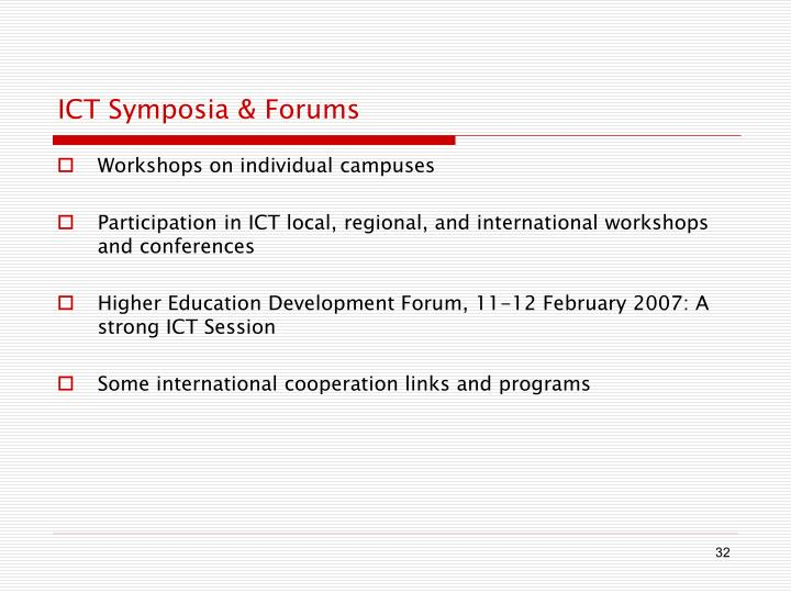 ICT Symposia & Forums