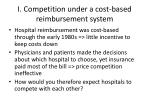 i competition under a cost based reimbursement system