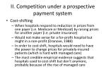 ii competition under a prospective payment system4