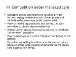 iii competition under managed care