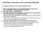 white papers describing a recommended esdr cdr