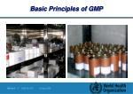 basic principles of gmp12