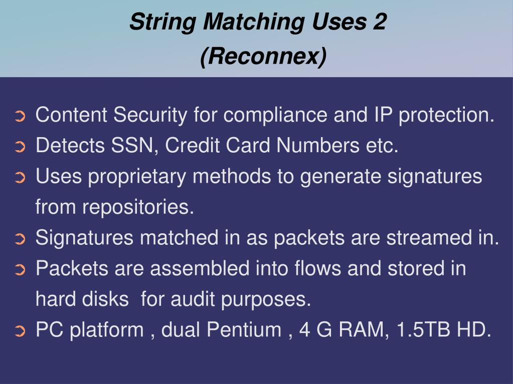 String Matching Uses 2