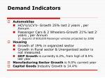 demand indicators