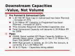 downstream capacities value not volume